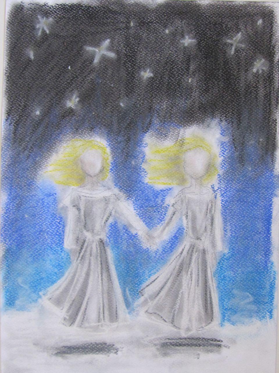 Magiczne gwiazdy, suche pastele, Radochna Łojek