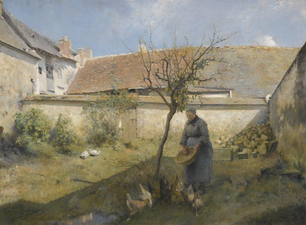 Carl Larsson, A la campagne, Öl auf Leinwand, 1883